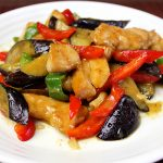 ■鶏肉レシピ■ 鶏肉となすのスタミナにんにく味噌炒め