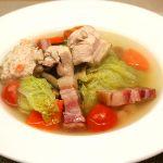 ■鶏肉レシピ■白菜と鶏肉の具沢山 簡単コンソメスープ