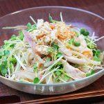 ■鶏肉レシピ■ささみと梅肉の冷製パスタ風うどん!