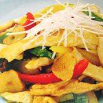 ■ 鶏肉レシピ ■水郷どりむね肉のうま辛千切り炒め