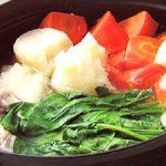 ■ 鶏肉レシピ ■水郷どりとほうれん草の野菜鍋