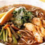 ■ 鶏肉レシピ ■水郷どりと山菜のみぞれ蕎麦