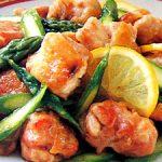 ■ 鶏肉レシピ ■水郷どりとアスパラのレモン炒め