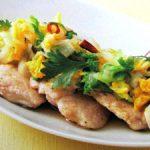 ■ 鶏肉レシピ ■水郷どりのエスニックソテー ~白菜ソース~