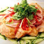 ■ 鶏肉レシピ ■水郷どりの蒸し鶏~エスニック風~