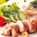 ■ 鶏肉レシピ ■そうめんとチキンソテーのスタミナプレート