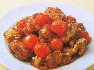 トマト酢鶏