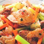 ■ 鶏肉レシピ ■水郷どりとセロリの唐辛子炒め