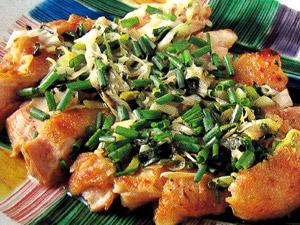 鶏肉(もも肉)の塩焼きねぎソース