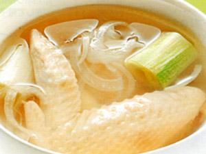 手羽先のレンジスープ