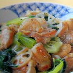 ■ 鶏肉レシピ ■水郷どりとチンゲン菜の黒コショウ炒め