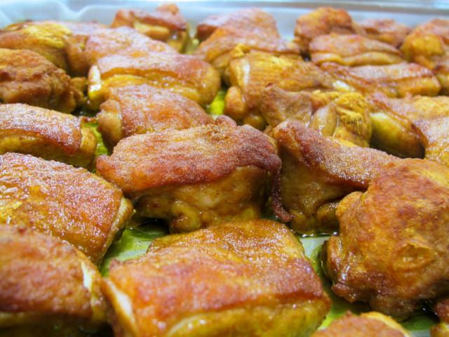 カレーに使う鶏肉