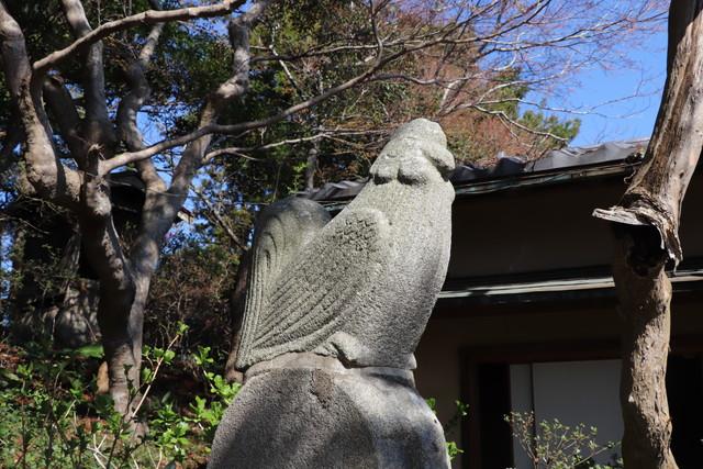 小見川城山公園 鶏の像