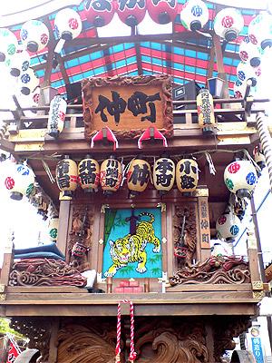 小見川祇園祭 仲町の屋台