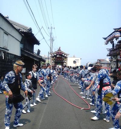 小見川祇園祭 仲町の手古舞