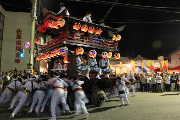 小見川祇園祭 北下宿の「のの字曳き」