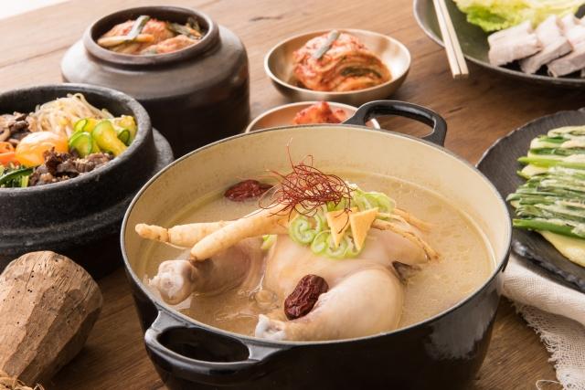 参鶏湯 食べ方 韓国料理