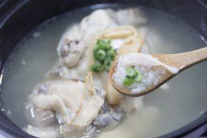 参鶏湯 食べ方 もち米