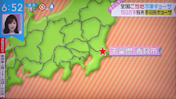 6月28日放送 ZIP!キテルネの手羽餃子紹介ダイジェスト 地域紹介