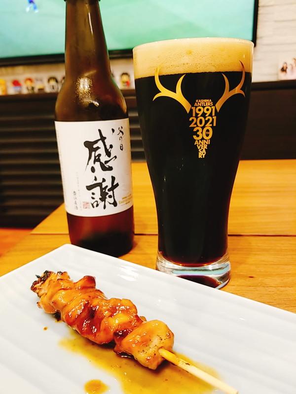 クラフトビールと焼き鳥をフラゲ